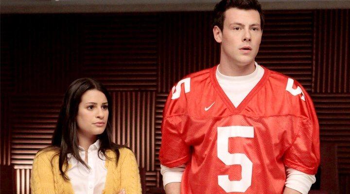 Lea Michele y Cory Monteith en 'Glee'