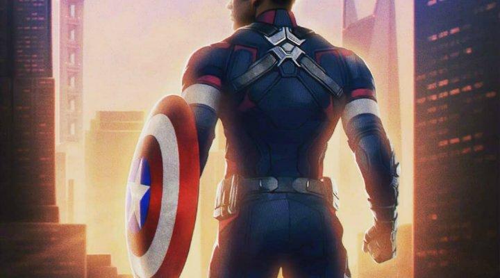 Chris Evans enfundado en su traje de 'Capitán América'