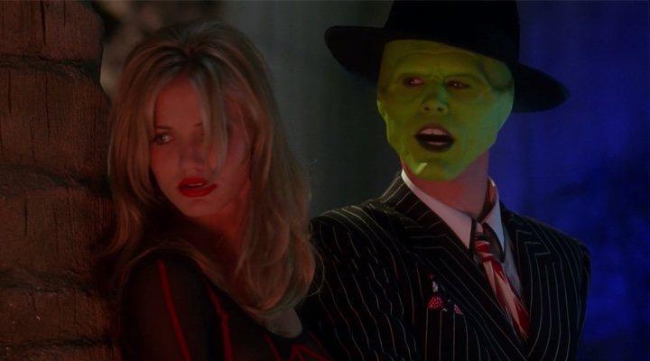 Cameron Díaz y Jim Carrey en 'La Máscara'