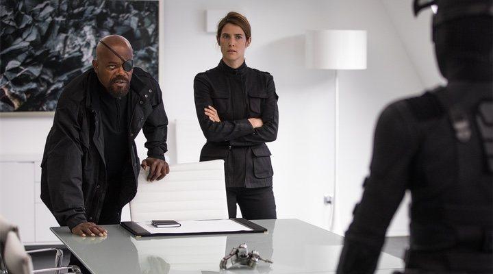 Nick Furia y Maria Hill en 'Spider-Man: Lejos de Casa'