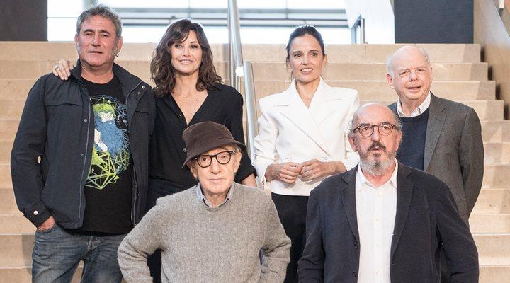 Woody Allen y los protagonistas de su película en San Sebastián
