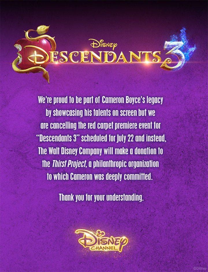 Comunicado de Disney