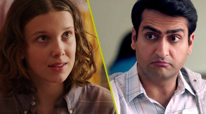 Millie Bobby Brown en 'Stranger Things' y Kumail Nanjiani en 'La gran enfermedad del amor'