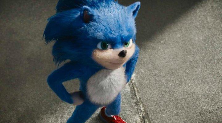 Primer diseño de Sonic para la película
