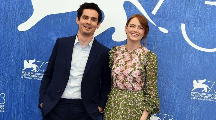 Emma Stone y Damien Chazelle