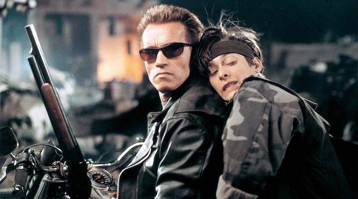 Arnold Schwarzenegger y Edward Furlong
