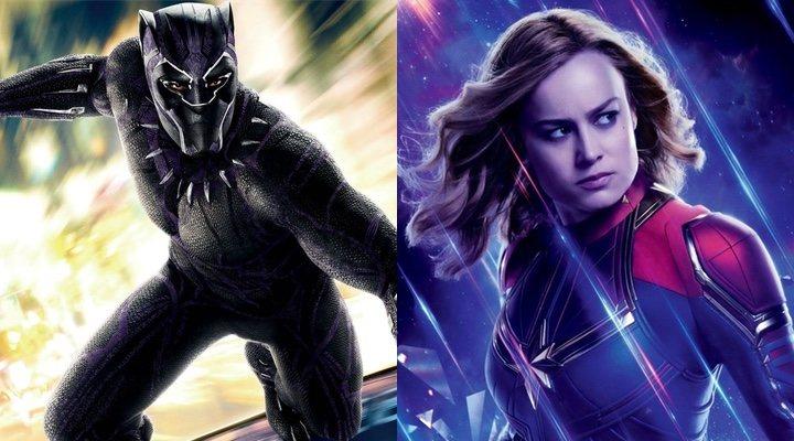'Black Panther' y 'Capitana Marvel'