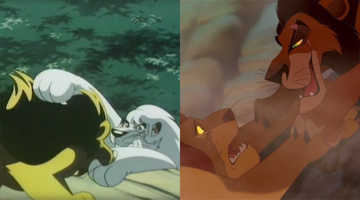 'Kimba, el león blanco' y 'El Rey León'
