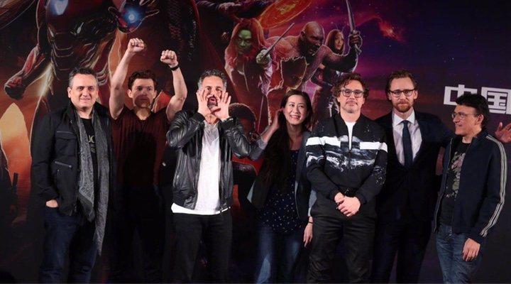 Los hermanos Russo con Robert Downey Jr.