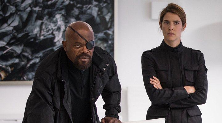 Cobie Smulders y Samuel L Jackson en 'Spider-Man: Lejos de Casa'