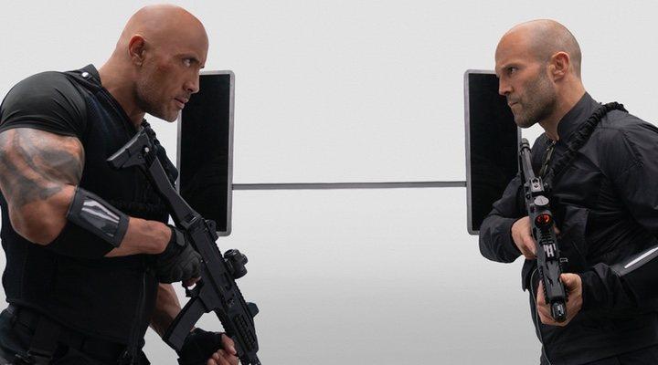 Dwayne Johnson y Jason Statham en 'Hobbs And Shaw'