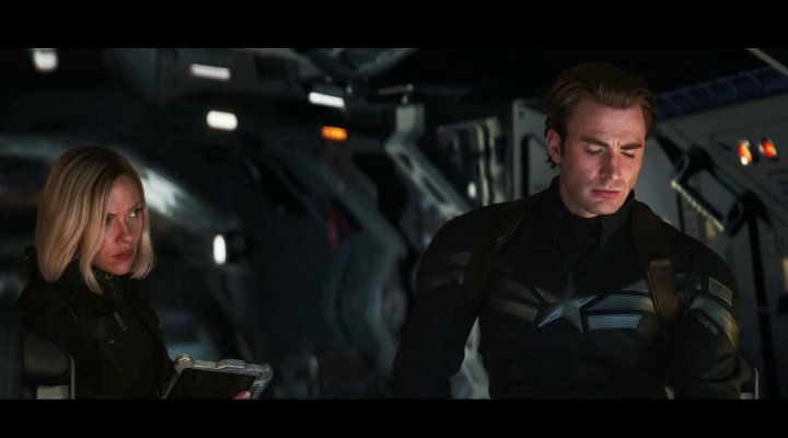 Scarlett Johansson y Chris Evans en 'Vengadores: Endgame'