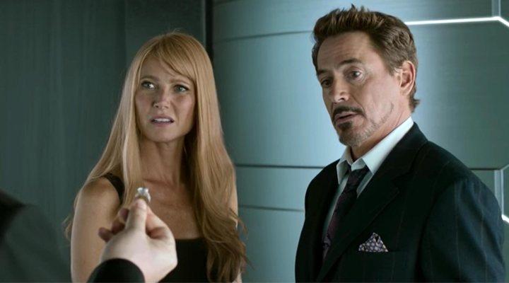 Gwyneth Paltrow y Robert Downey Jr. en 'Spider-Man: De regreso a casa'