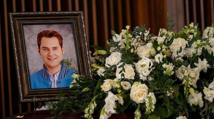 el funeral de Bryce Walker