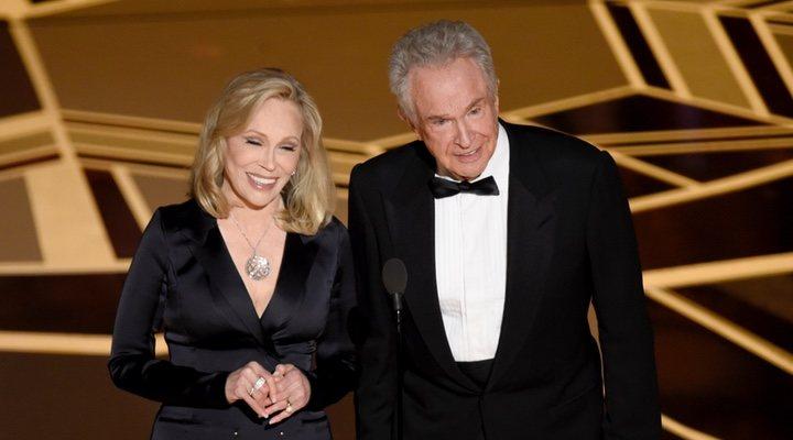 Faye Dunaway y Warren Beatty en los Óscars 2018