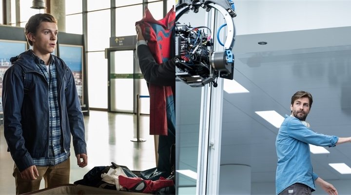 Tom Holland y Jon Watts en 'Spider-Man: Lejos de Casa'