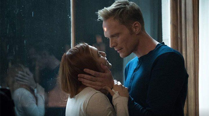 Paul Bettany y Elizabeth Olsen en 'Vengadores: Infinity War'
