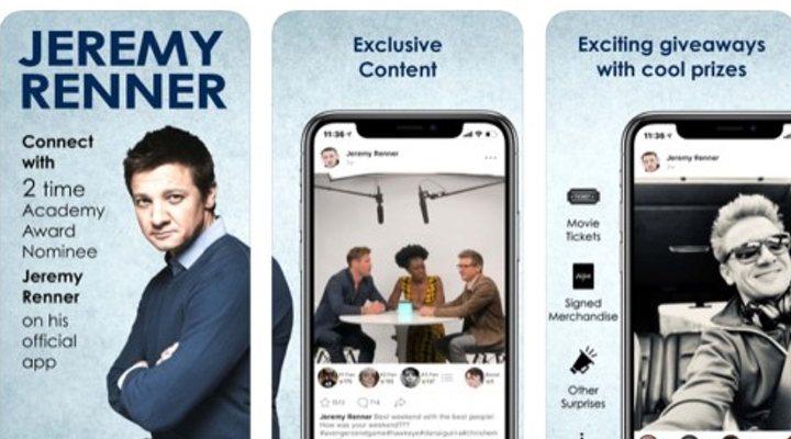 App de Jeremy Renner para smartphones