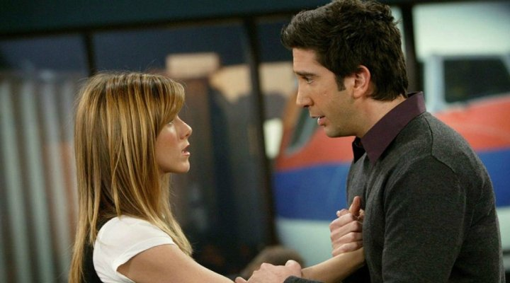 Jennifer Aniston y David Schwimmer en 'Friends'