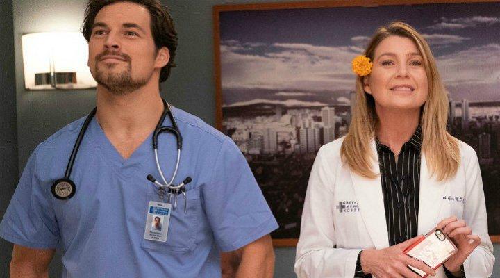 Andrew DeLuca y Meredith Grey en 'Anatomía de Grey'