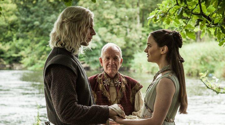 Rhaegar Targaryen y Lyanna Stark en 'Juego de Tronos'
