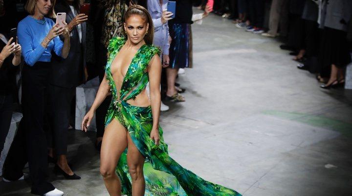 Jennifer Lopez en la semana de la moda de Milán 2019