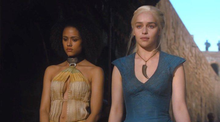 Emilia Clarke (Daenerys) y Nathalie Emmanuel (Missandei) forman una parte del equipo Targaryen