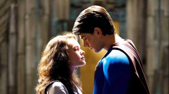 Brandon Routh y Kate Bosworth en 'Superman returns'