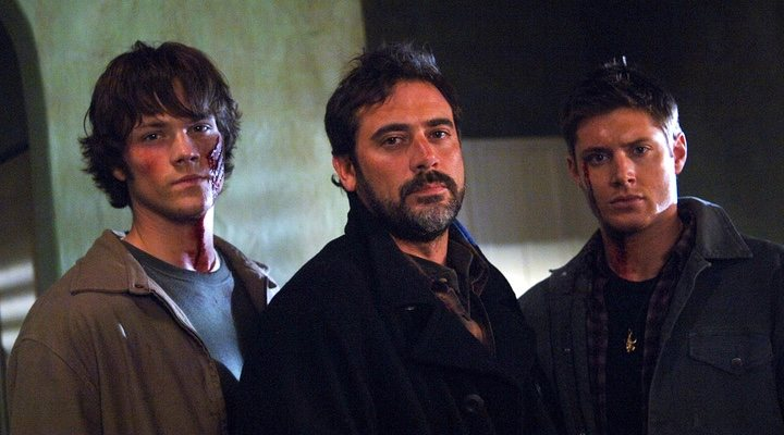 Padalecki, Morgan y Ackles en 'Sobrenatural'