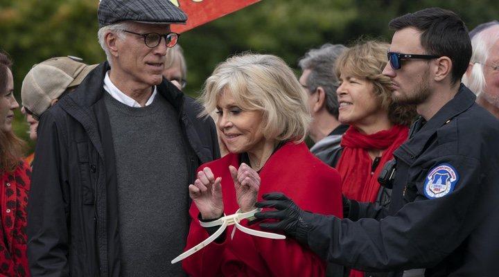 Jane Fonda agradece BAFTA siendo arrestada