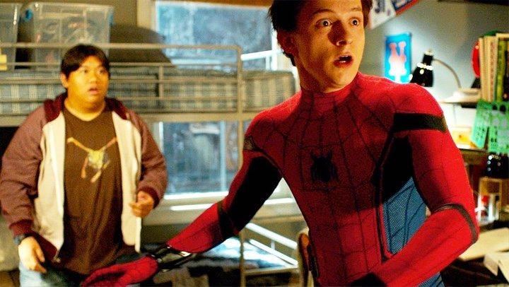 Fotomontaje de Peter Parker como Spider-Man
