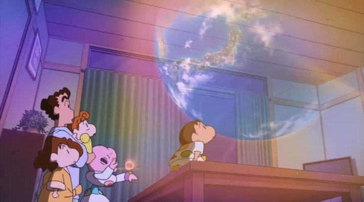 Shin Chan y Kulete, el extraterrestre