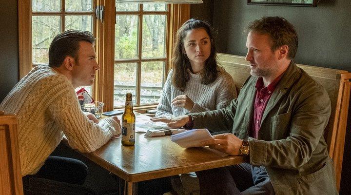 Rian Johnson, Daniel Craig y Ana de Armas en el rodaje de 'Puñales por la espalda'