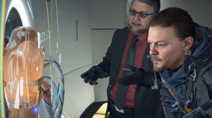 Guillermo del Toro y Norman Reedus en un fotograma de 'Death Stranding'