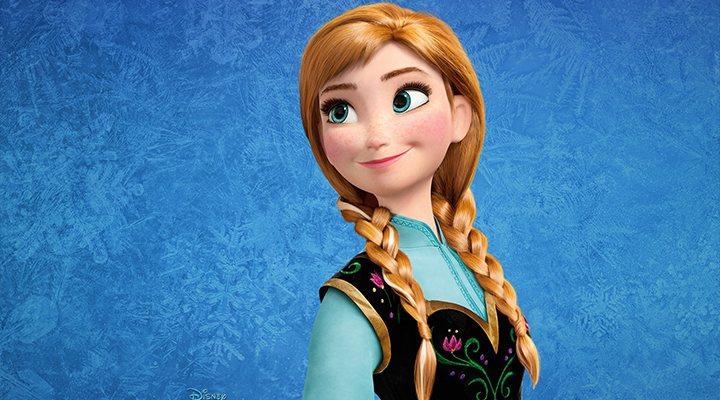 Kristen Bell disfrazada Anna