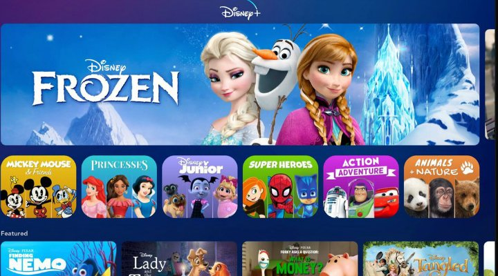 Interfaz de Disney+