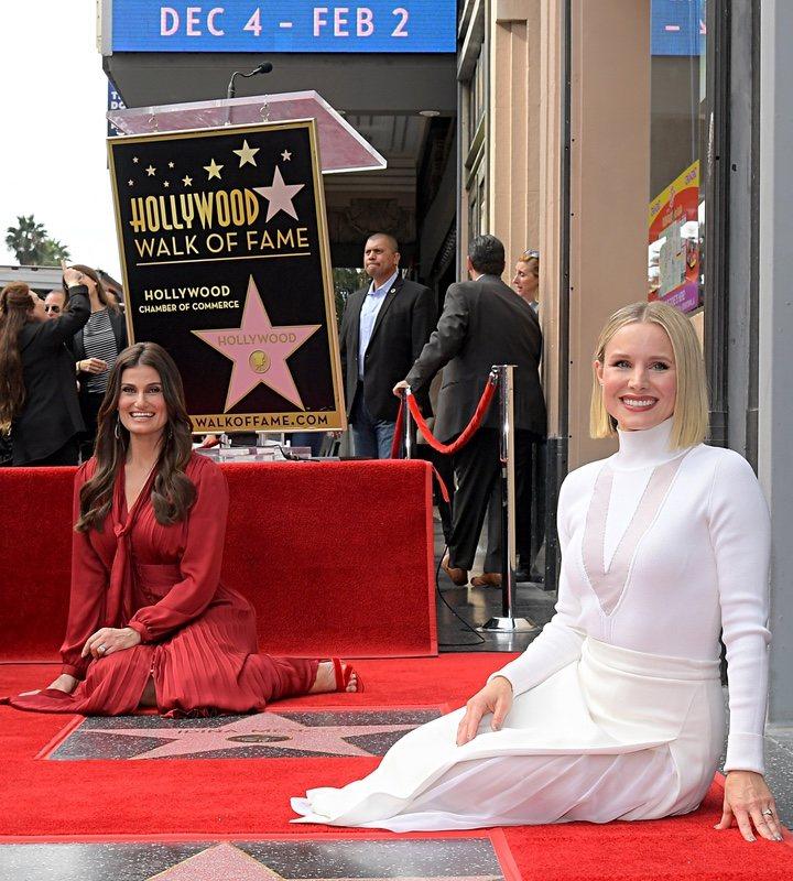 Paseo de la fama Kristen Bell Idina Menzel