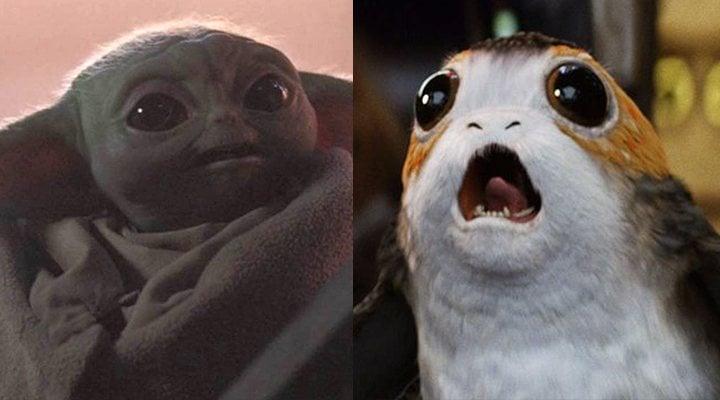 Daisy Ridley Porgs o Baby Yoda