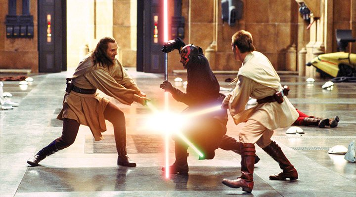 'Star Wars' batalla sables láser