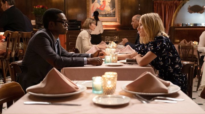 'Eleanor and Chidi in 'The Good Place