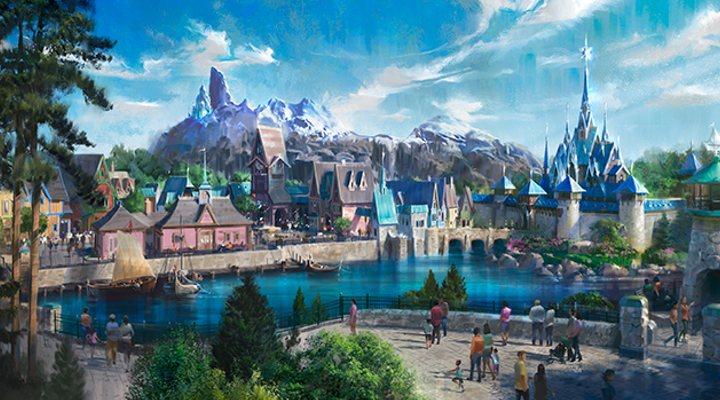 Los cianotipos del mundo de Frozen en Disneyland Paris