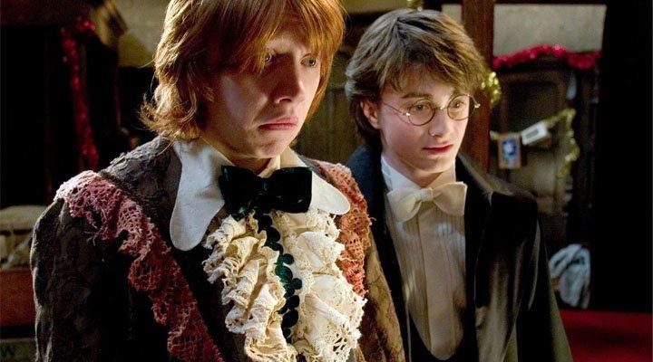 Rupert Grint y Daniel Radcliffe en 'Harry Potter y el Cáliz de Fuego