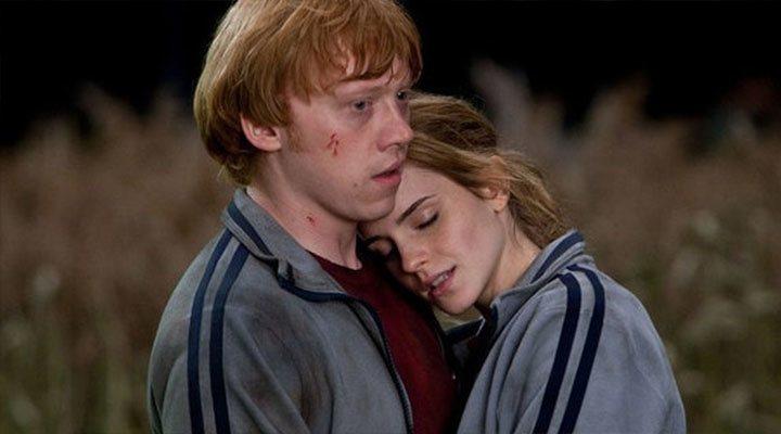 Rupert Grint y Emma Watson en 'Harry Potter y las Reliquias de la Muerte. Parte 1'