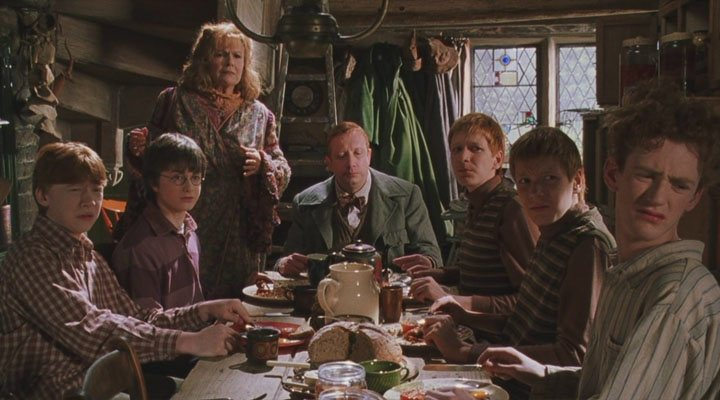 La familia Weasley al completo en 'Harry Potter y la Cámara Secreta'