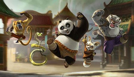 Divertido póster de 'Kung fu panda'