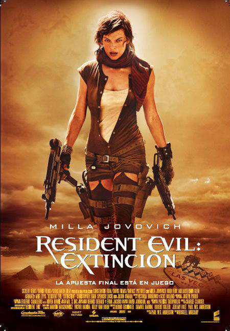 Cartel y tráiler en castellano de 'Resident Evil: Extinción'
