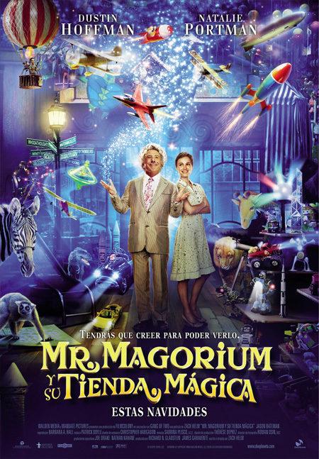 Cartel en castellano de 'Mr. Magorium y su tienda mágica'