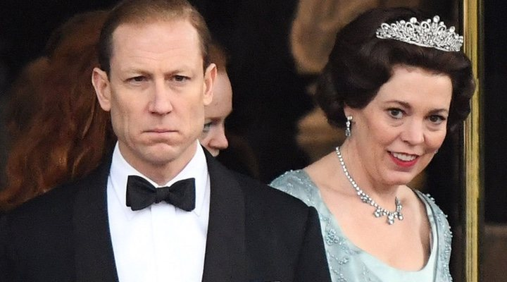 Tobias Menzies y Olivia Colman en 'The Crown'
