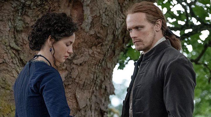 Caitriona Balfe y Sam Heughan en la quinta temporada de 'Outlander'