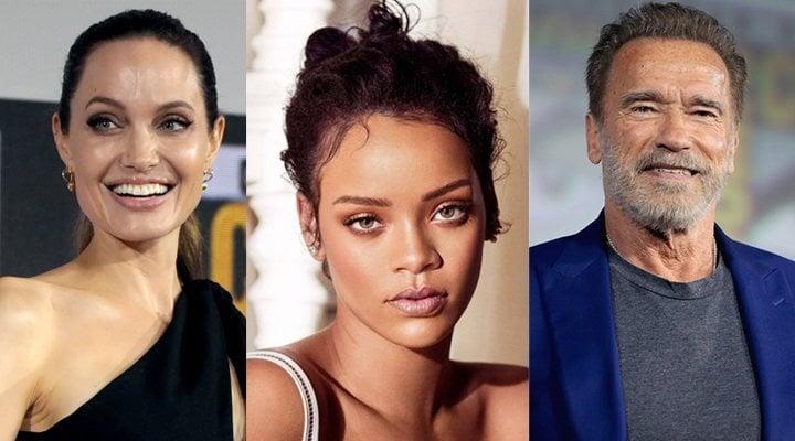 Angelina Jolie, Rihanna y Arnold Schwarzenegger
